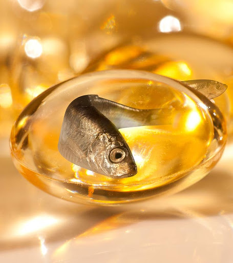 fish oil for removal of hydration